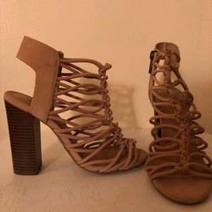 Size 6 Braided Block Heels